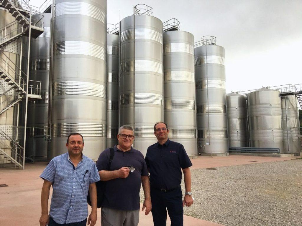 Equip Ozonoapps visita el centre de producció vinícola de l'Agricola de La Conca